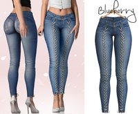 Blueberry - Ashberry - Tied Up Jeans - Blue