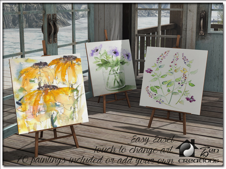 Easy Easel, 70 art textures or add your own images