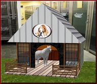 Ranchette Dog House doghouse [partial mesh]