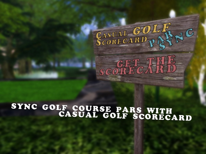 Casual Golf Scorecard Sync Sign