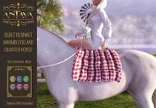 :: ANTAYA :: WHRH Quilt blanket \ English Warmblood and Quarter Horse