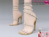 %50WINTERSALE Full Perm Pearl Beaded Bridal High Heel Sandals Ocacin Killer Heel, Voluptuous, Slink High Heel