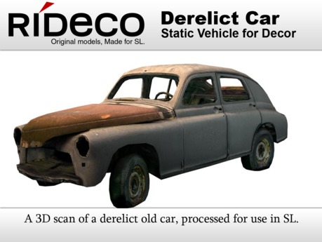 RiDECO - Derelict Car (3D Scan)