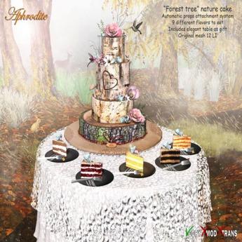 <Aphrodite> Forest Tree Cake  Nature cake