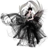 Boudoir -Black Angel Dress