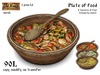 Plate of food v2 - Old World - Rustic / Medieval