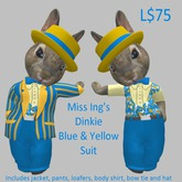 Miss Ing's Dinkie Blue and Yellow Suit Set