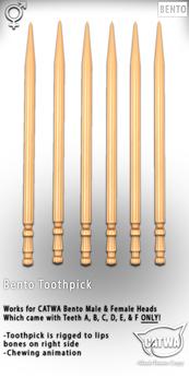 CATWA Bento Toothpick