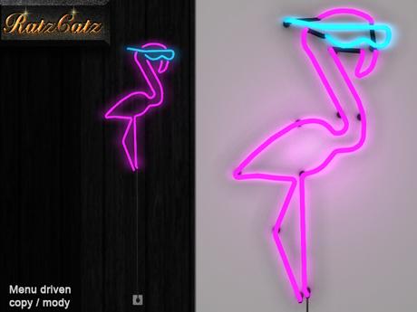 .: RatzCatz :. Neon Sign *Flamingo* v2 / wall