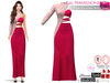 %50WINTERSALE Full Perm One Shoulder Red Gown - Slink, Voluptuous, Maitreya, Belleza, Tonic, TMP, Ebody