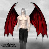 Arch Demon Wings in Bright Red - Demon Flexi Scripted Wings