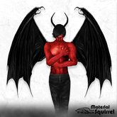 Arch Demon Wings in Black - Demon Flexi Scripted Wings