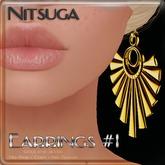 __::NITSUGA::__ Earrings #1 [Gold & Silver]