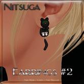 __::NITSUGA::__ Earrings #2 [Black kitten]