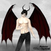 Arch Demon Wings in Dark Red - Demon Flexi Scripted Wings