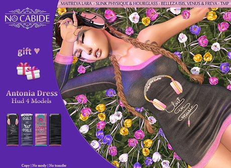 No Cabide :: Antonia Dress - HUD 4 Models