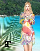 XK Maitreya Summer Beach Cover Up Set Beach Umbrellas