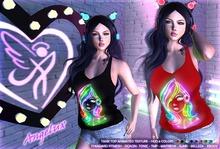 Angelux Neon DJ Animated Art, Tank Top