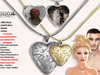 [SuXue Mesh] FATPACK Necklace Opening Closing Locket - Asi - Silver & Gold - Resize - Unisex