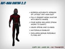 Ant-Man v2 Avatar - Four Sizes + Bonus Rideable Flying Ant