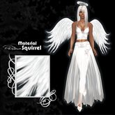 Tendril Angel Wings in White - Scripted Flexi Wings for Angels
