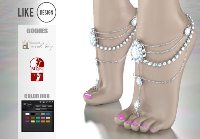 .: LIKE DESIGN :. Highfeet Anklet V9 ( With Color HUD )