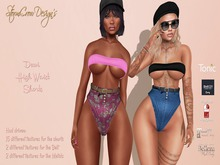 Dewi High Waisted Shorts with Hud, Box