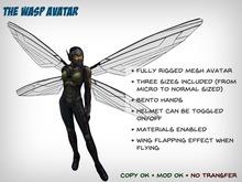 The Wasp Avatar - Three Sizes - Bento Hands