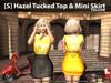 [S] Hazel Tucked Top & Mini Skirt Yellow