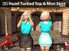 [S] Hazel Tucked Top & Mini Skirt Dots