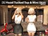 [S] Hazel Tucked Top & Mini Skirt White