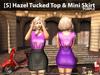 [S] Hazel Tucked Top & Mini Skirt Purple