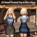 s  hazel tucked top   mini skirt blue ad