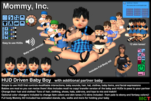 *Mommy Inc* HUD-Driven Highly Detailed Prim Baby Boy v3.0