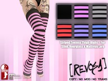 [REVOSA] Striped Toeless Thigh-Highs (Slink, Hourglass & M Lara)