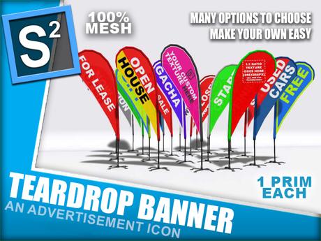 S2 Teardrop Banner