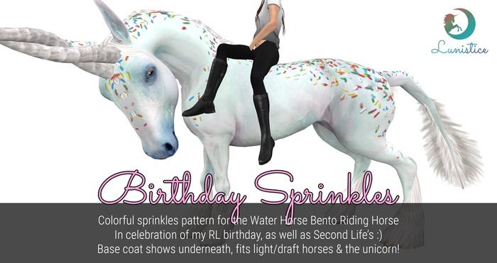 Lunistice: Birthday Sprinkles - Water Horse Pattern/Tattoo