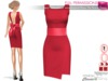 Full Perm Red Sleeveless Waistband Bow Tie Back Dress Slink, Voluptuous, Maitreya, Belleza