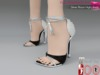 %50WINTERSALE Full Perm Silver Black High Heels With Tassels, Ocacin Killer Heel, Voluptuous, Slink, Maitreya