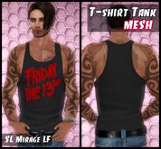 Mesh Mens T-shirt Tank  Friday the 13 th (5 in 1)
