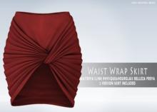 iS Waist Wrap Skirt RED