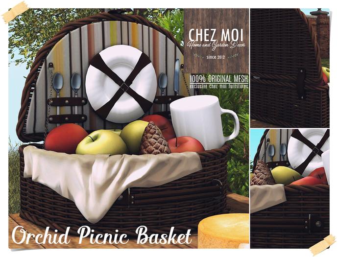 Orchid Picnic Basket ♥ CHEZ MOI