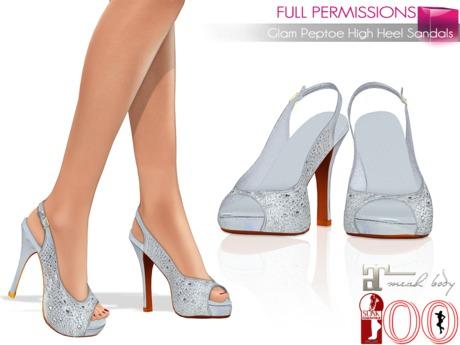Full Perm Glam Peep Toe High Heel Sandals Ocacin High Heel, Ocacin Voluptuous High Heel, Maitreya Mid