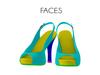 Faces glam peptoe high heel sandals
