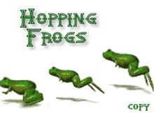 Animated Hopping Frogs