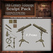18th Century Telescope Sculpt Pack, Sculpted Antique Telescope, 8 Sculpty Maps & 3 Metal Textures Full Perms - Sculpties