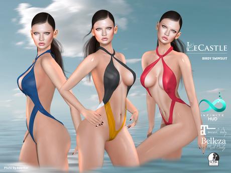 LeCastle - Birdy Swimsuit  / Maitreya / Slink / Belleza / HUD