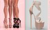 [BREATHE]-Akio Heels-I.Coffee-(for Slink High Feet & Maitreya Lara & Belleza)