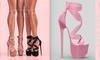 [BREATHE]-Akio Heels-Rose Pink-(for Slink High Feet & Maitreya Lara & Belleza)