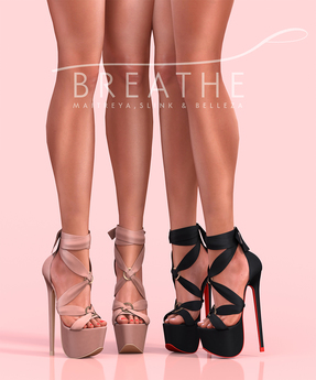 [BREATHE]-Akio Heels-Pack Six-(for Slink High Feet & Maitreya Lara & Belleza)